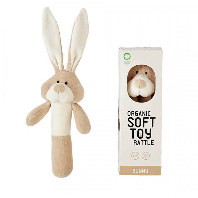 Wooly Organic haaratav mänguasi jänes (beez)
