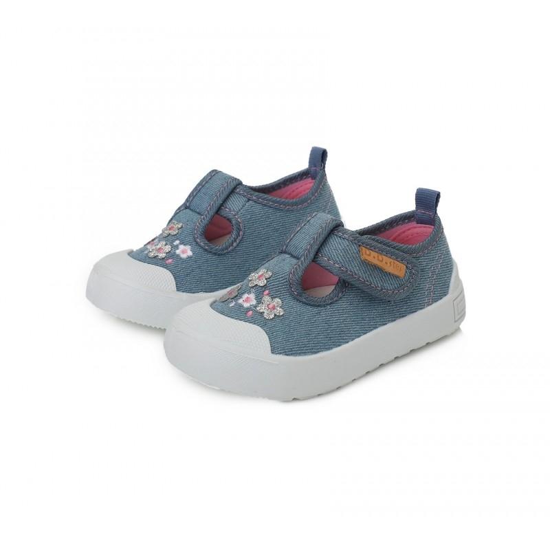Tekstiilist, kerged jalatsid,  hallikassinised lillelised suurus 20