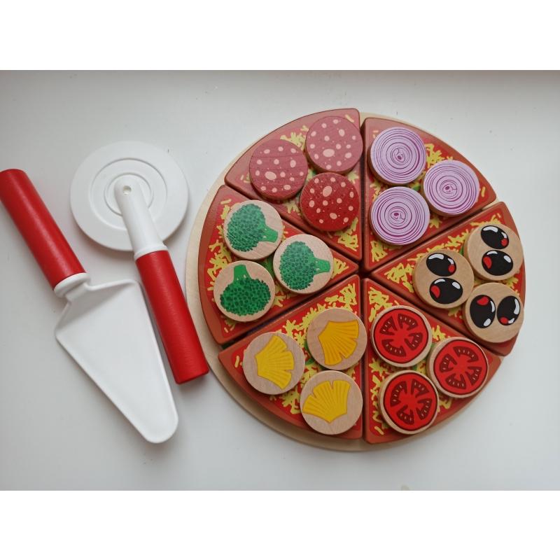 Lõigatav pitsa puidust