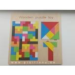 Tangram / tetrise pusle, puidust