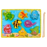 Magnet-kalapüügimäng, puidust, värviline