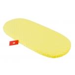 Vankrilina kummist äärega, minky, kollane