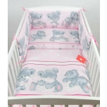 Laste voodipesukomplekt 100x135 (roosad mõmmid)