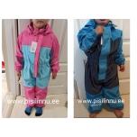 Fliisvoodriga vihmakombe, roosa või sinine suurused 80, 104