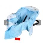 Turvahälli tekk (minky/puuvill) 90x90 cm sinised tähed