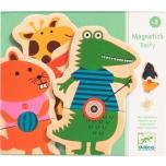 Djeco loomadega magnetpusle Belty, puidust