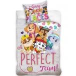 Laste voodipesukomplekt Paw Patrol (tüdrukutele) 100x135