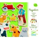 Djeco puidust magnetid Talu, 24 detaili