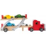 Treiler koos sõidukitega, puidust
