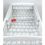 Laste voodipesukomplekt 100x135 (hallid elevandid)