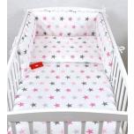 Laste voodipesukomplekt 100x135 (roosad tähed)