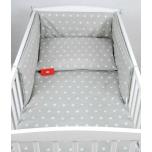 Laste voodipesukomplekt 100x135 (hallid tähed)